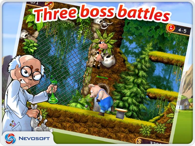 Supercow: funny farm arcade platformer HD / Супер Корова: приключения на со